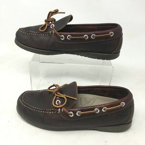 L.L Bean Casual Slip On Boat Shoes 7 W Womens One